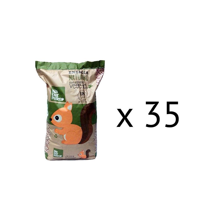 Pellets naturpellet medio palet 35 sacos escotermia - Sacos de pellets ...